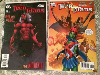 Teen Titans #37 & #40 Set 1st Miss Martian