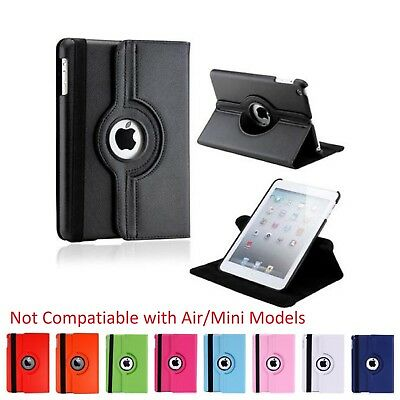 Media Armor 360 Degrees Rotating Stand Leather Smart Cover Case for iPad 2/3/4