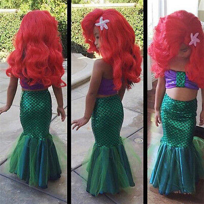 2016 sexy costumes for baby girls princess ariel dress The little Mermaid Ariel