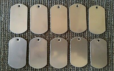 25 WHOLESALE LOT BLANK Military STAINLESS STEEL DOG TAGS VETERAN OWNED STORE