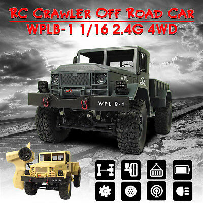 2018 WPL RC Rock Crawler Off-Road 4WD Military Truck Remote Control Car Gift AU
