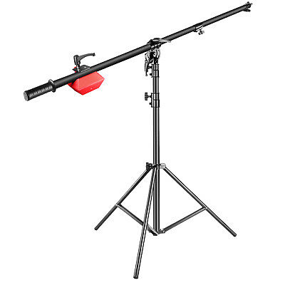 Neewer Lamp Boom Stand with Holding Arm for Monolight Strobe Light Ring Softbox