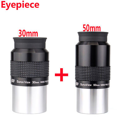 """New GSO 2""""Superview 30/50mm Wide Field 60Degree FMC Eyepiece for Telescope CO"""