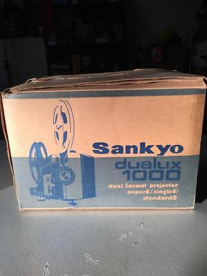 "Sankyo Dualux 1000 Standard 8mm / Super 8  ""Working"" WITH ORIGINAL BOX"