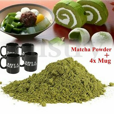 Matcha Green Tea Powder Ultrafine Premium 500g + 4x Have a nice day Mug Cup