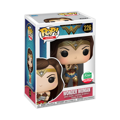 FUNKO POP WONDER WOMAN WITH GAUNTLETS variant EXCLUSIVE LIMITED EDITION #226