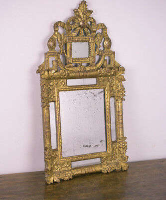 18th Century Carved Wood Gilded Mirror