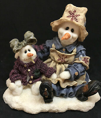 1998 Boyds Wee Folkstone Collection Florence & Katerina Cold Comfort Figurine1E