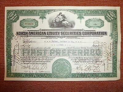 North American Utility Securities Corp., div. Shares, Maryland, 1927, BANK