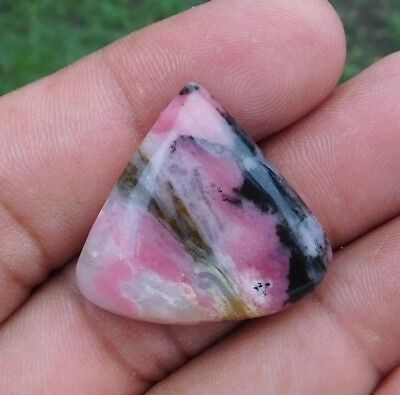 Attractive 39.2 Cts 100% Natural Eclipse Rhodonite 29X27X6 Mm Loose Gemstone