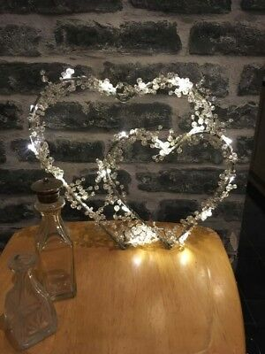 """Double Hearts""  Beautiful LED wire light"