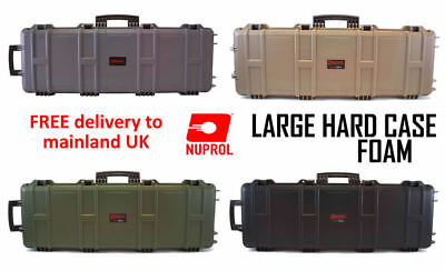 NUPROL Large Hard Case Airsoft Rifle Storage PNP WAVE Foam ABS PLASTIC BB