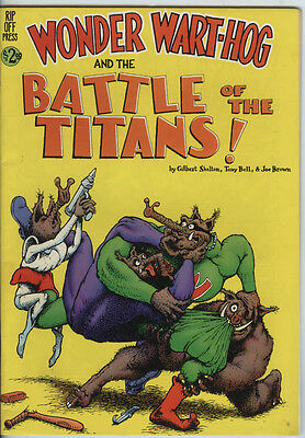 Wonder Wart-Hog and the Battle of the Titans From 1985 By Rip Off Press Scarce