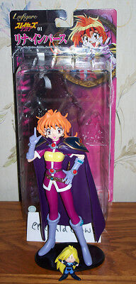 Slayers Try Lina Inverse static figure w/ mini Gourry Bandai Japan 1998 complete