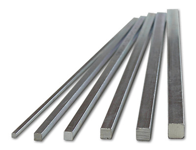 Metric Key Steel Square Bar Keyway 4mm-12mm, 5mm 6mm 7mm 8mm 10mm X 300mm (PVR)