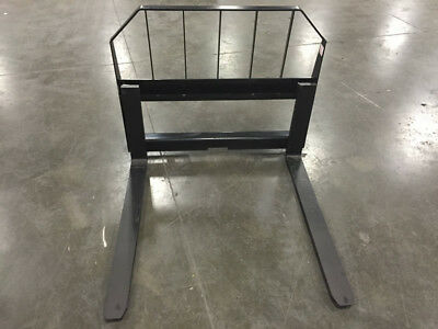 "Fork Frame 48"" Pallet Forks Quick Attach Skid Steer Attachment"