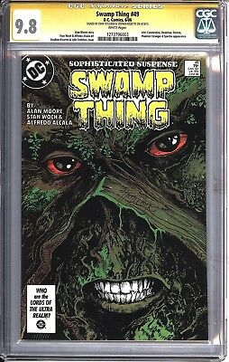* Swamp Thing #49 SS CGC 9.8 Signed by Totleben, Bissette (1273796003) *