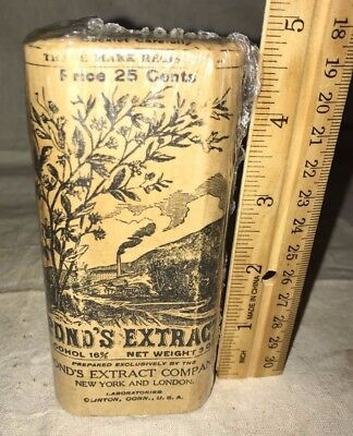 Antique Ponds Extract Medicine Household Remedy Unopened Package Apothecary Drug