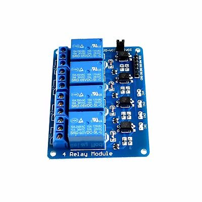 New 5V 4 Channel Relay Module PIC ARM DSP AVR