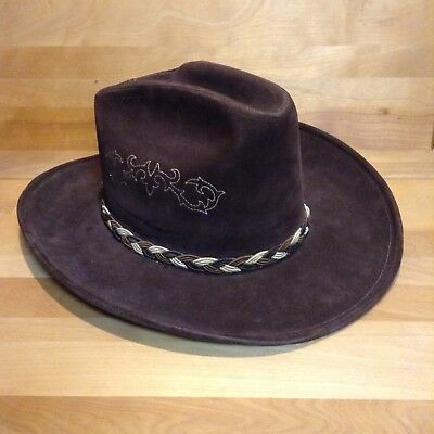 Vintage Kenny Rogers Brown Soft Cowboy Hat Western Collection By Miller Bros b7325e8dbcb
