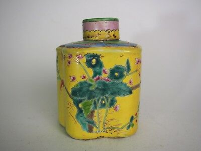 A Famille Rose Tea Caddy, 19th Century