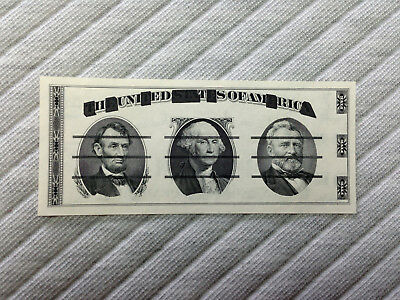 Giori Test Note 2 sided correct black ink Washington center top condition LOOK!