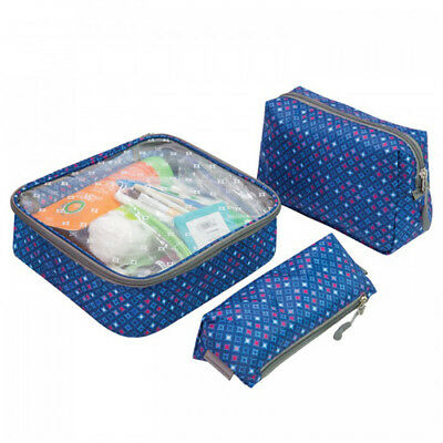 Travelon -Diamond Sparkle Toiletry Packing Set w/ Assorted Sizes - 3 Pack