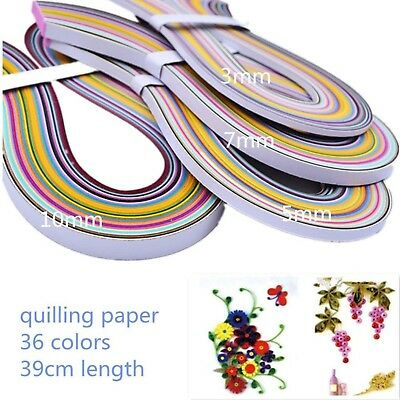Paper Quilling 36 Colors390mm Length3/5/7/10mm Width720 Strips total