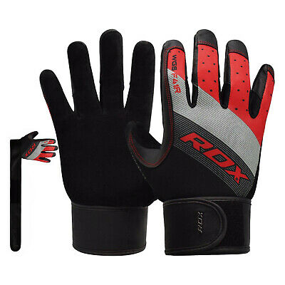 RDX Weight Lifting Leather Gym Gloves Fitness Training Body Building AU