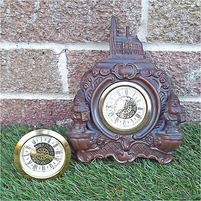 Metal Cologne Gnome Clock Case & Two Movements - Dom Zu Koln - Heinzelmännchen