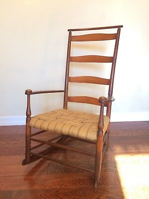 Late 19th Century Antique Shaker Rocking Chair #6