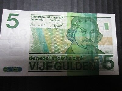 Netherlands 1973 Five Gulden 1973