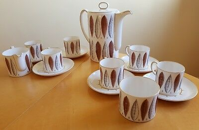 Susie Cooper Hyde Park china coffee set, immaculate condition