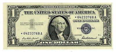 Fr. 1619* $1 1957 One Dollar Silver Certificate Star Note Priest-Anderson VeryCU
