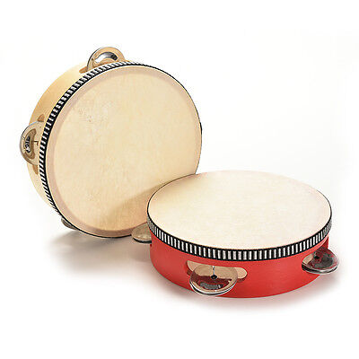 1Pcs Kids Musical Tambourine Wooden Drum Rattles for Baby Education Toy NY