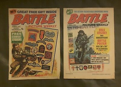 Battle Picture Weekly, Rare Comic, No 1, & 2 / 1975