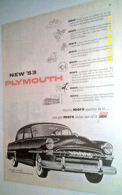 1953 Plymouth Cranbrook Automobile Original Ad