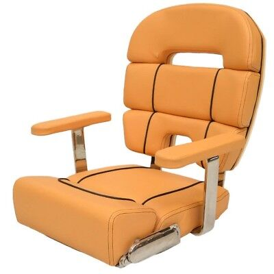Scout Boat Helm Bolster Seat  | Taco Metals Butterscotch w/ Armrests