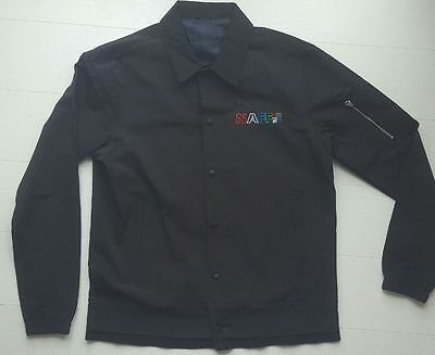 a8909ca09 BLACK MENS BLACK NAFF CO 54 NEW COACH JACKET 90s retro vintage casuals dance