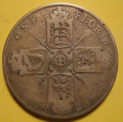 Great Britain Florin 1923 SILVER King George V
