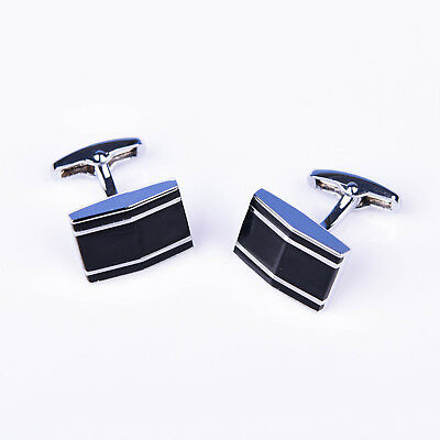 Black Formal Busines men Cuff Links Sexy Luxury Fashion Silver Jewelry Cufflinks