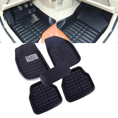 All Weather Mat 5Pcs Black Universal Car Floor Mats FloorLiner Front&Rear Carpet