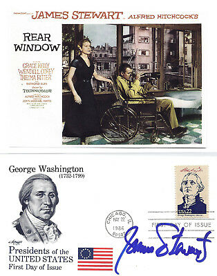 James Stewart - Authentic And Genuine Hand Signed First Day Cover/picture.