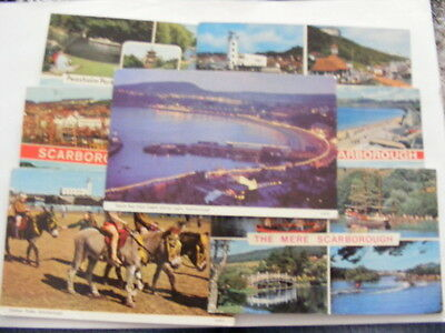 7 Post cards 1970s-80s sea side pictures Scarbough