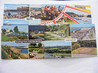 4 Post cards 1960s-70s sea side pictures
