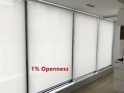 """Roller Shade 1% Opennes """"Chalk"""" Color  Blind Home Window Custom Made In Canada"""