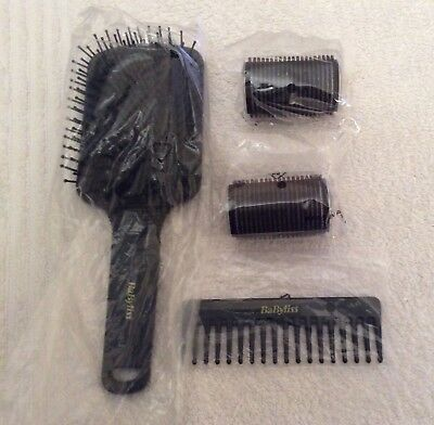 BN Babyliss paddle brush, comb and 2 rollers