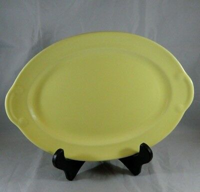 """Vintage 11.5"""" Oval Meat Serving Platter Luray Pastels Yellow Taylor Smith TS&T"""