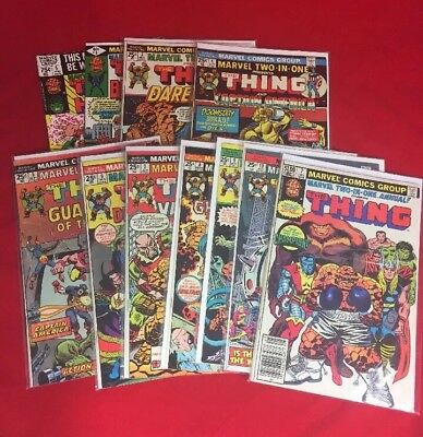 Marvel Two In One Presents Thing 3-10, Annuals 4,5,7. 10 Issue Lot.