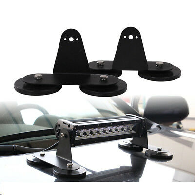 2x powerful mount bracket holder strong magnetic base roof led light 2x powerful magnetic base mount bracket led work light bar holder for suv aloadofball Gallery